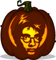 Harry Potter pumpkin pattern - Harry Potter