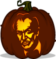 Vincent Price pumpkin pattern