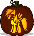 Rainbow Dash pumpkin pattern