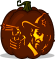 Rick Grimes pumpkin pattern - The Walking Dead