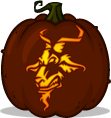 Road Goat pumpkin pattern