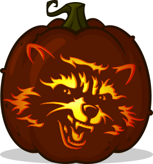 Rocket Raccoon pumpkin pattern