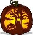 spooky forest pumpkin pattern