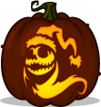 Sandy Claws Jack pumpkin pattern - The Nightmare Before Christmas