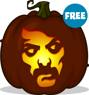 Tom Savini pumpkin pattern