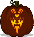 Gene Simmons pumpkin pattern