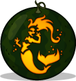 Splashing Siren pumpkin pattern