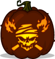 Skull and Torches pumpkin pattern