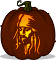 Jack Sparrow pumpkin pattern