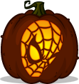 Spider-Man pumpkin pattern