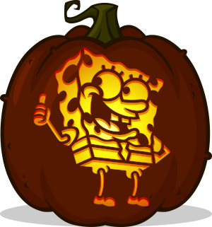 SpongeBob SquarePants pumpkin pattern