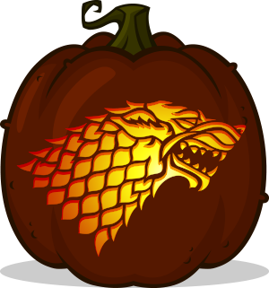 House Stark Sigil pumpkin pattern