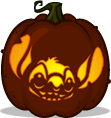 Stitch pumpkin pattern