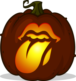 Rolling Stones Hot Lips pumpkin pattern