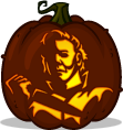 Michael Myers pumpkin pattern