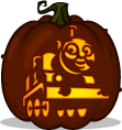 Thomas the Tank Engine pumpkin pattern