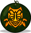 Jungle Tiki pumpkin pattern