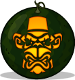 Tiki Monkey pumpkin pattern