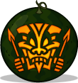 Tribal Tiki pumpkin pattern