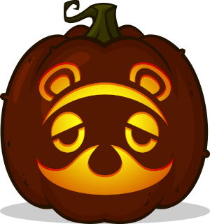Tom Nook pumpkin pattern