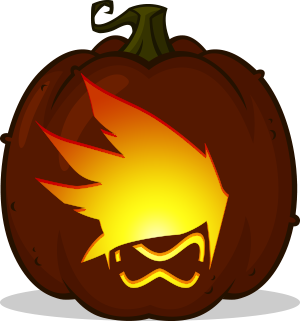 Tracer Icon pumpkin pattern