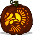 Classic Turkey pumpkin pattern