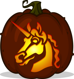 Highborn Unicorn pumpkin pattern