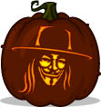 V pumpkin pattern - V for Vendetta