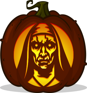 Valak The Nun pumpkin pattern