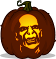 Lord Voldemort pumpkin pattern