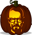 Walter White pumpkin pattern