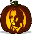 Wednesday Addams pumpkin pattern