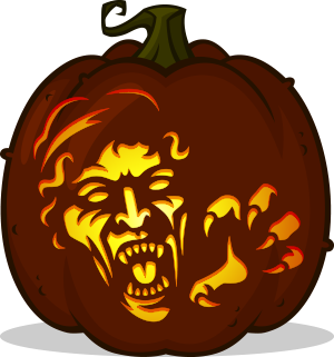 Weeping Angel pumpkin pattern