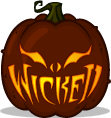 Wicked Grin pumpkin pattern