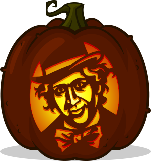 Willy Wonka pumpkin pattern - Willy Wonka and the Chocolate Factory