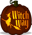 Witch Way pumpkin pattern