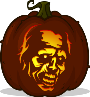 Withered Walker pumpkin pattern