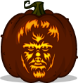 The Wolf Man pumpkin pattern