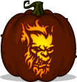 Orc pumpkin pattern