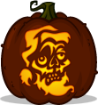 Zombie Claus pumpkin pattern - Christmas