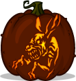 Twilight Zone Rabbit pumpkin pattern